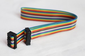 16PIN LED Screen Flat Ribbon Data Rainbow Color Signal Cable
