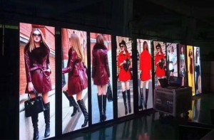 P3 Indoor Mirror LED Poster Display 576x1920 with wireless controller