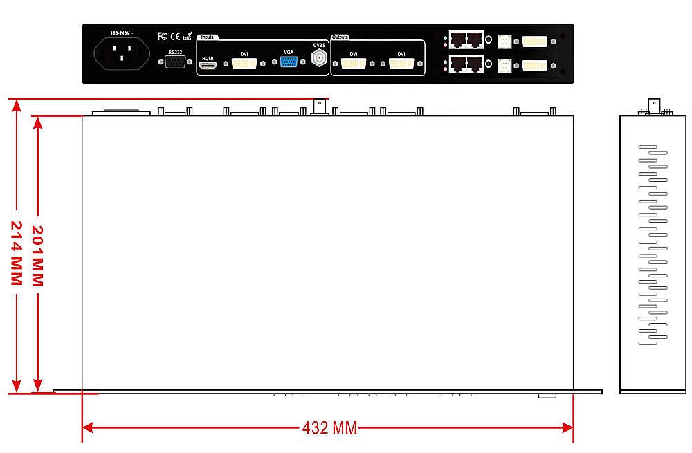 Bộ xử lý video độ nét cao VDWALL LVP100 LED