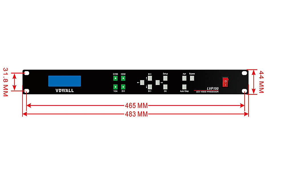 VDWALL LVP100 LED High Definition Video Processor