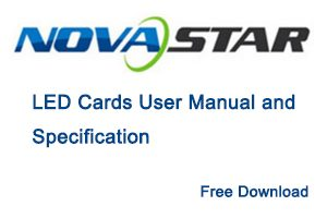 Novastar LED Cards User Manual & Specification