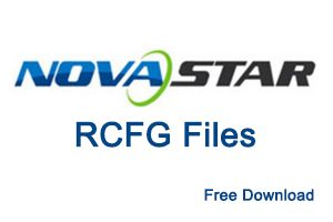 Novastar LED Display RCFG file Download - LED Controller Cards