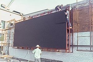 How do customers do their own maintenance of large LED display screen?